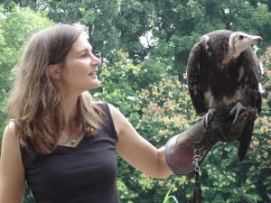 Lucia with bird