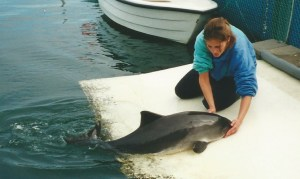 Lucia with porpoise