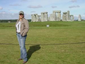 Lulu at Stonehenge